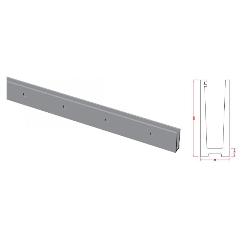 Rail aluminium pour garde corps en verre fixation for Fixation garde corps a l anglaise