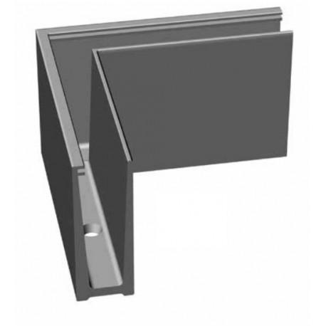 Angle ext rieur pour profil aluminium pour fixation de for Garde corps en verre pour exterieur