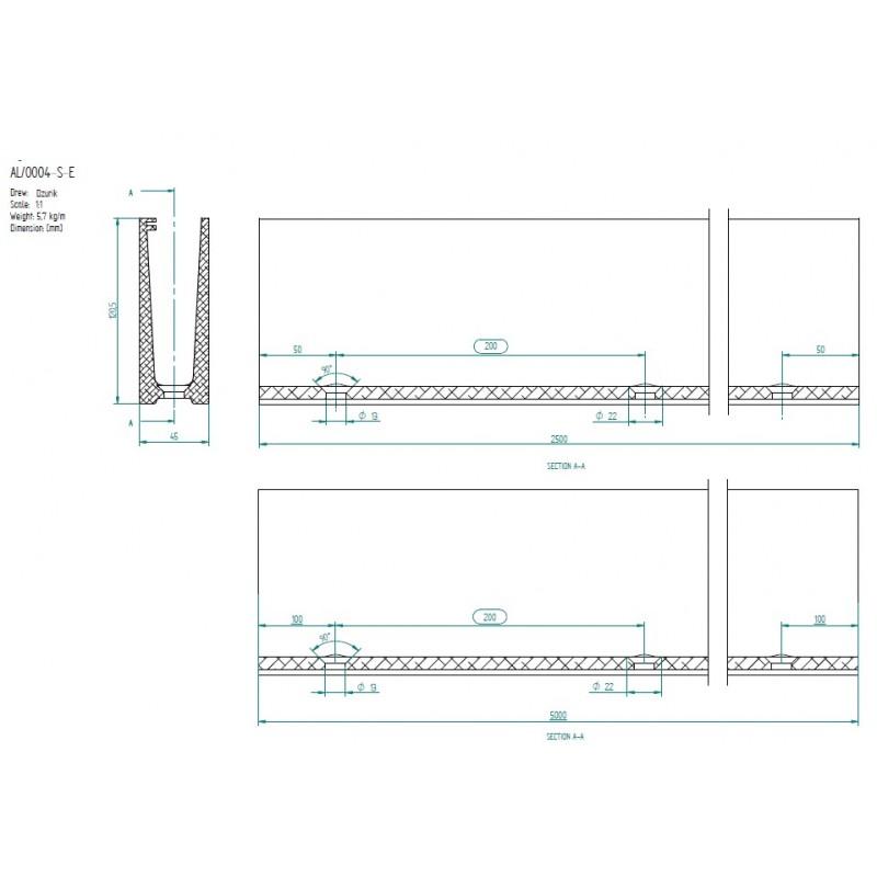 Angle int rieur pour rail aluminium pour garde corps en for Fixation garde corps a l anglaise
