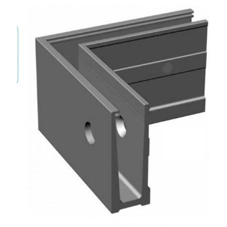 angle ext rieur pour rail aluminium pour garde corps en verre fixation vertical a l 39 anglaise. Black Bedroom Furniture Sets. Home Design Ideas