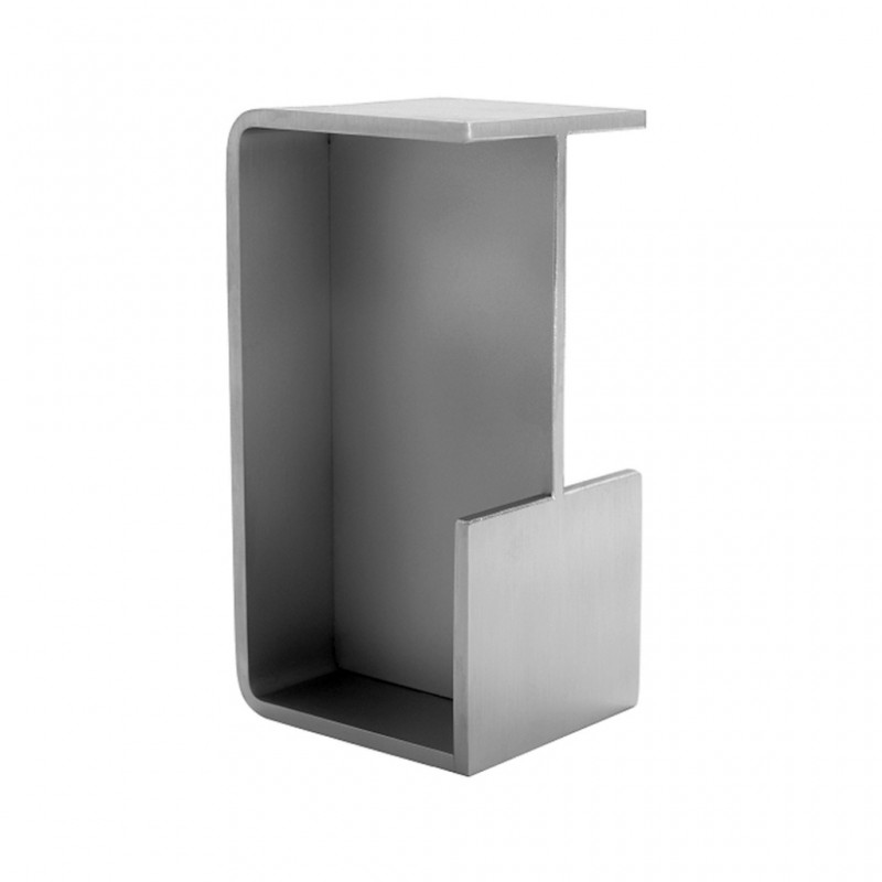 poignees inox rectangulaire pour portes coulissantes de 35 50 mm d 39 paisseur. Black Bedroom Furniture Sets. Home Design Ideas