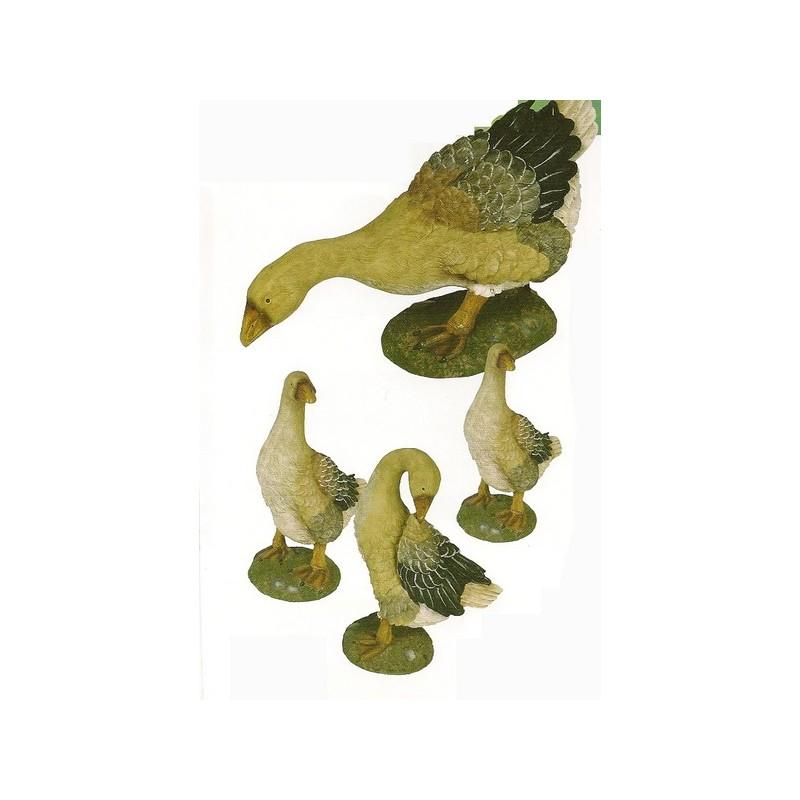 Lot de 4 oies figurine de jardins Figurine pour jardin