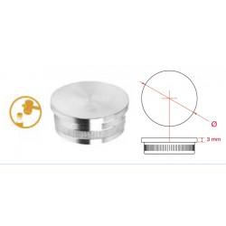 Bouchon plat pour tube de main courante diam tre 42 4mm aisi304 ou 316 inox metaux - Dessous de plat en bouchon ...