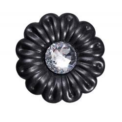 Fleur fer forgé avec cristal