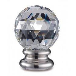 Boule cristal sur pied inox