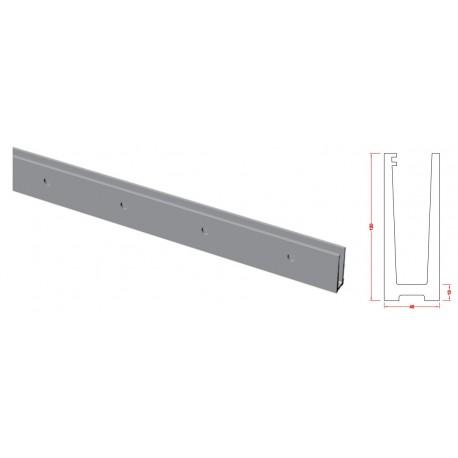 rail aluminium pour garde corps en verre fixation verticale a l 39 anglaise. Black Bedroom Furniture Sets. Home Design Ideas