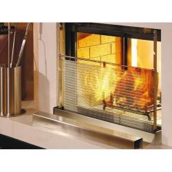 Pare flamme réglable à maille pour cheminée - 80x60