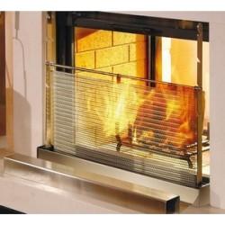 Pare flamme réglable à maille pour cheminée - 70x50
