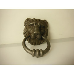 heurtoir de porte fer forgé lion
