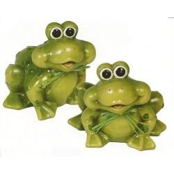Lot de 2 grenouilles - figurine de jardins