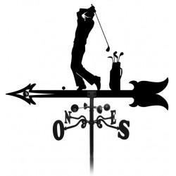 Girouette golfeur