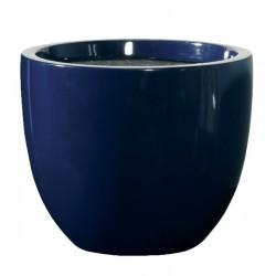 Pot de fleur bleu foncé