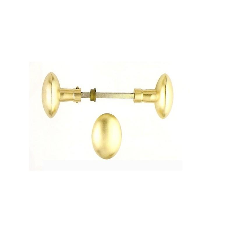 poign e de porte bouton ovale antique laiton poli. Black Bedroom Furniture Sets. Home Design Ideas