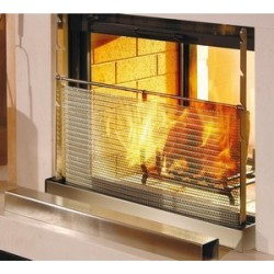 grille pare flamme inox
