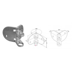 Support d'angle pour tube