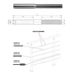 Embout droite pour cable 4 mm