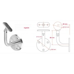 Support de rampe réglable -Inox