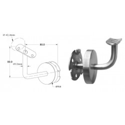 Support fixe- Inox A4