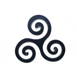 Triskèle celtique ou croix bretonne fer 350 mm