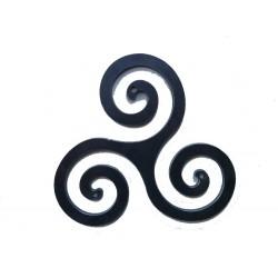 Triskèle celtique ou croix bretonne fer 500 mm