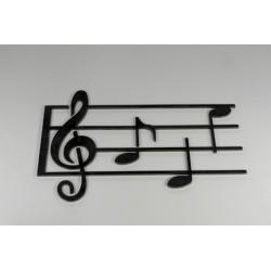 Portée musicale fer 350 x 540 mm
